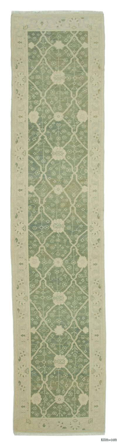 "New Oushak Runner Rug - 2'7"" x 11'11"" (31 in. x 143 in.)"