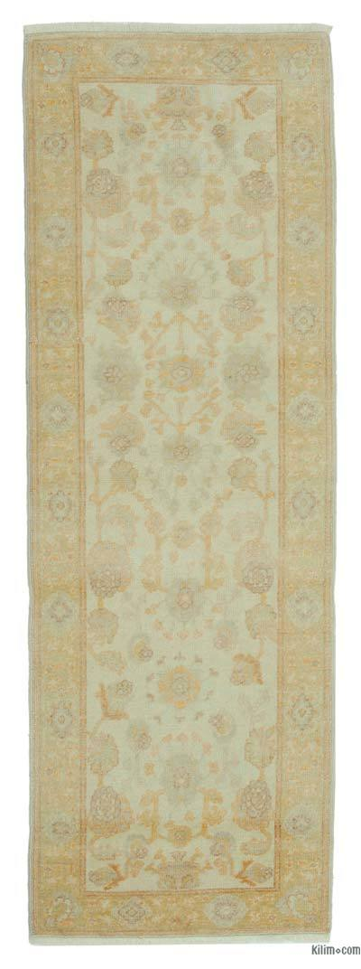 "Beige New Oushak Runner Rug - 2' 9"" x 8'  (33 in. x 96 in.)"