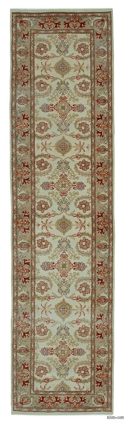 "New Oushak Runner Rug - 2' 6"" x 9' 9"" (30 in. x 117 in.)"