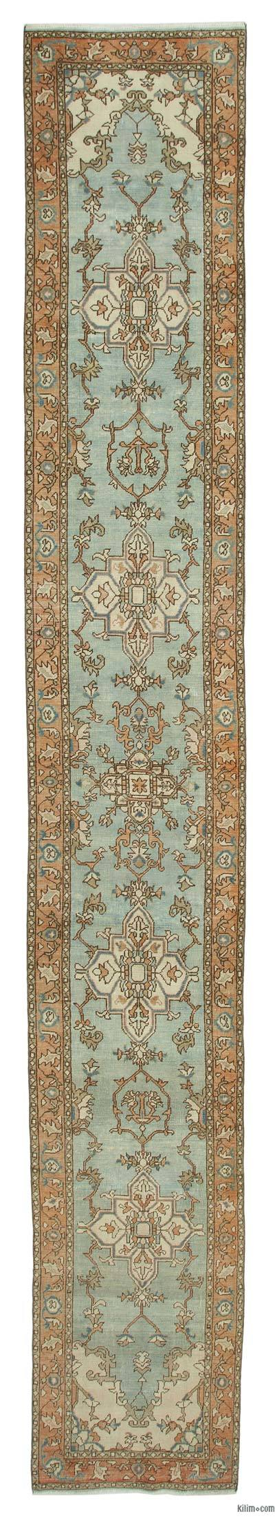 "New Oushak Runner Rug - 2'6"" x 17' (30 in. x 204 in.)"