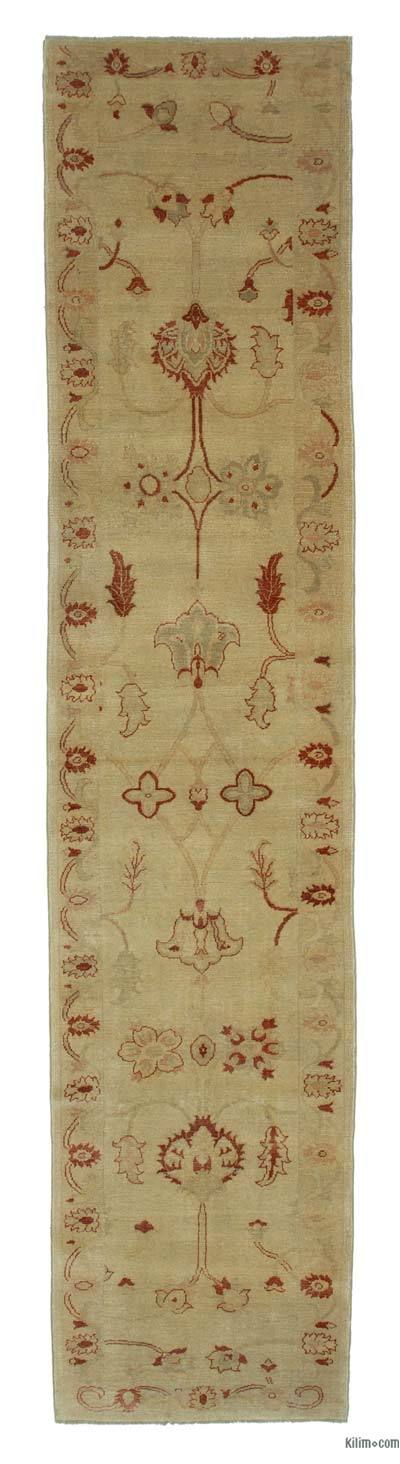 "Yellow New Oushak Runner Rug - 3' 1"" x 14' 6"" (37 in. x 174 in.)"