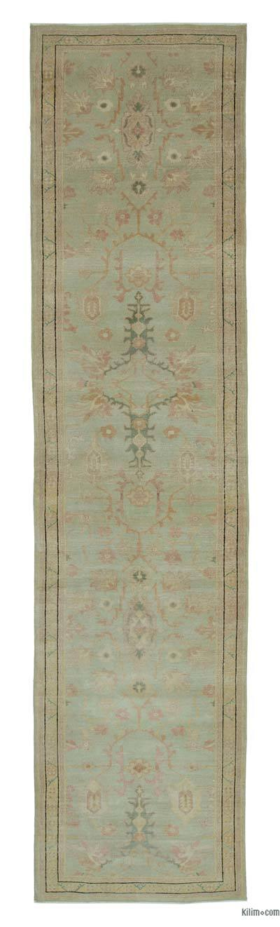 "New Oushak Runner Rug - 2'10"" x 11'9"" (34 in. x 141 in.)"