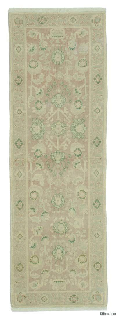 "New Oushak Runner Rug - 2'7"" x 7'11"" (31 in. x 95 in.)"