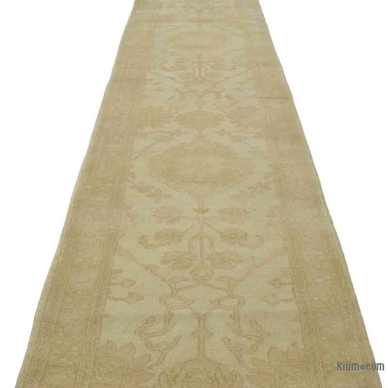 """Beige New Oushak Runner Rug - 2' 7"""" x 13' 6"""" (31 in. x 162 in.) - K0041071"""