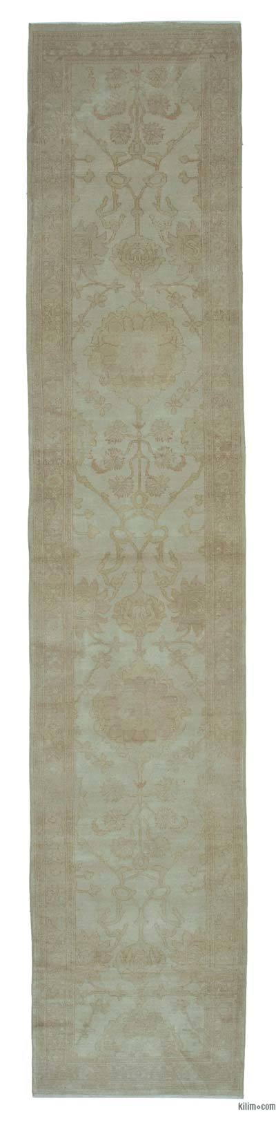 "Beige New Oushak Runner Rug - 2' 7"" x 13' 6"" (31 in. x 162 in.)"