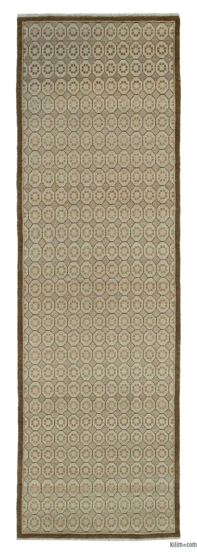 "New Oushak Runner Rug - 3'2"" x 10'2"" (38 in. x 122 in.)"