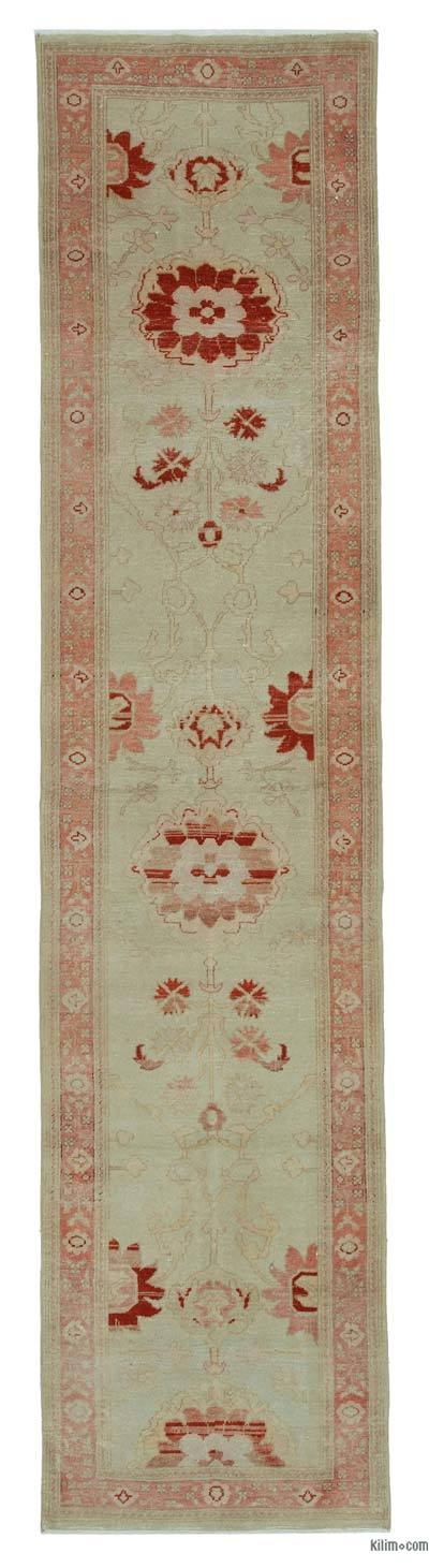 "New Oushak Runner Rug - 2'3"" x 10' (27 in. x 120 in.)"
