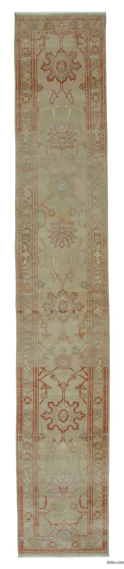 "New Oushak Runner Rug - 2' 4"" x 13' 9"" (28 in. x 165 in.)"