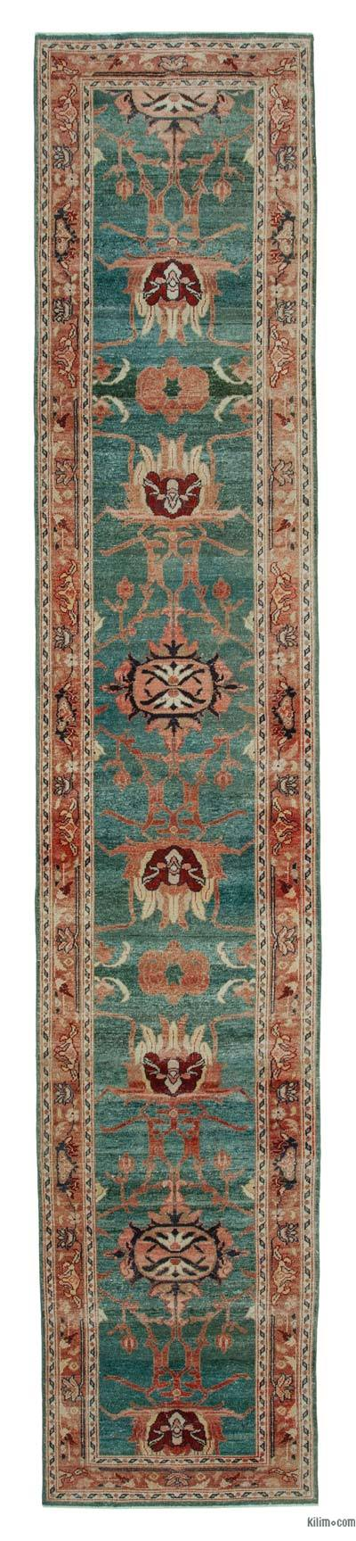 "New Oushak Runner Rug - 2' 6"" x 13' 7"" (30 in. x 163 in.)"