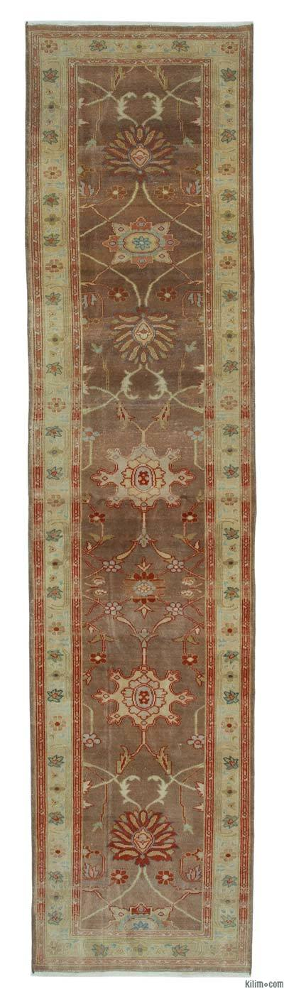 "New Oushak Runner Rug - 2' 5"" x 10' 2"" (29 in. x 122 in.)"