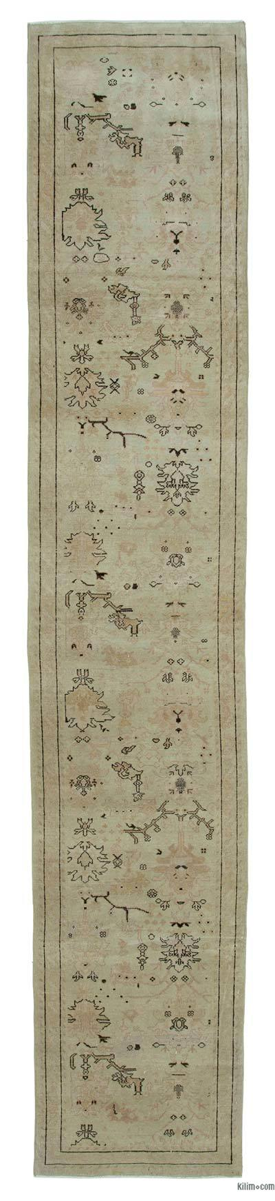 "New Oushak Runner Rug - 2'7"" x 13'7"" (31 in. x 163 in.)"