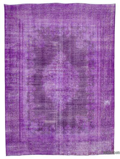 """Purple Over-dyed Vintage Hand-Knotted Oriental Rug - 9' 7"""" x 13' 2"""" (115 in. x 158 in.)"""