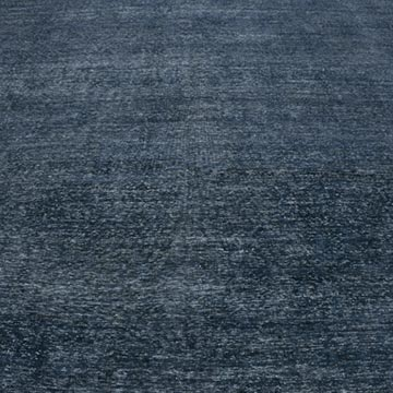 Blue Over-dyed Vintage Hand-knotted Oriental Rug - 8' 6# x 12' 8# (102 in. x 152 in.) - K0041101