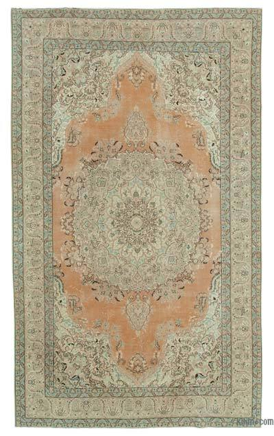 "Vintage Hand-knotted Oriental Rug - 6'10"" x 11'7"" (82 in. x 139 in.)"
