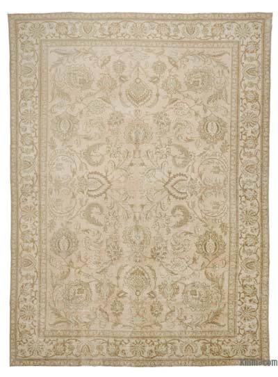 Vintage Boyalı El Dokuma Halı - 290 cm x 397 cm
