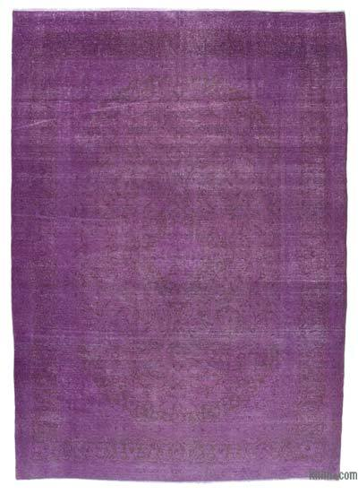 """Over-dyed Vintage Hand-knotted Oriental Rug - 8'2"""" x 11'3"""" (98 in. x 135 in.)"""