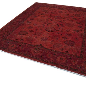 """Orange Overdyed Vintage Hand-Knotted Oriental Rug - 8' 3"""" x 9' 9"""" (99 in. x 117 in.) - K0041116"""
