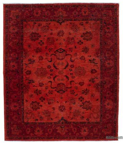 "Overdyed Vintage Hand-knotted Oriental Rug - 8' 3"" x 9' 9"" (99 in. x 117 in.)"