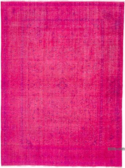 "Over-dyed Vintage Hand-knotted Oriental Rug - 9'1"" x 12'4"" (109 in. x 148 in.)"