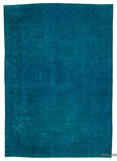 """Over-dyed Vintage Hand-knotted Oriental Rug - 9'1"""" x 13'5"""" (109 in. x 161 in.)"""