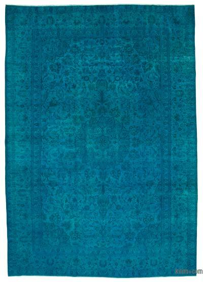 """Over-dyed Vintage Hand-knotted Oriental Rug - 8' 10"""" x 12' 5"""" (106 in. x 149 in.)"""