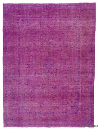 "Overdyed Vintage Hand-knotted Oriental Rug - 8' 2"" x 11'  (98 in. x 132 in.)"