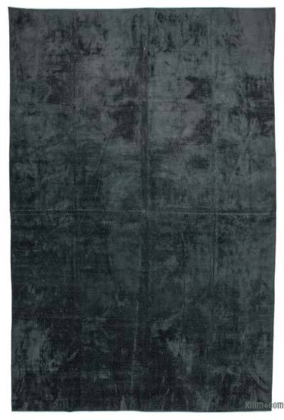 """Black Over-dyed Vintage Hand-Knotted Oriental Rug - 11' 5"""" x 17' 5"""" (137 in. x 209 in.)"""