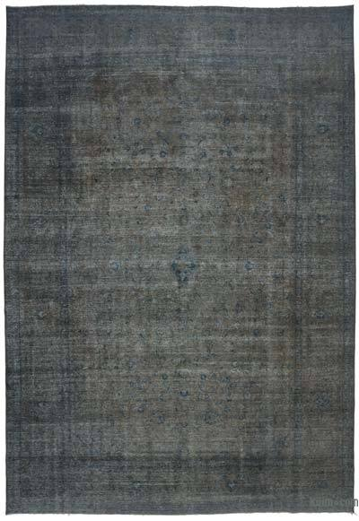 "Grey Over-dyed Vintage Hand-knotted Oriental Rug - 9' 9"" x 14' 3"" (117 in. x 171 in.)"