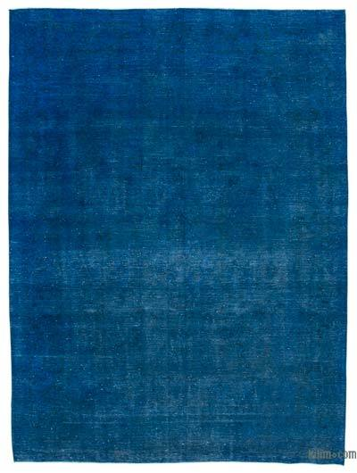 "Blue Over-dyed Vintage Hand-knotted Oriental Rug - 9' 7"" x 12' 10"" (115 in. x 154 in.)"