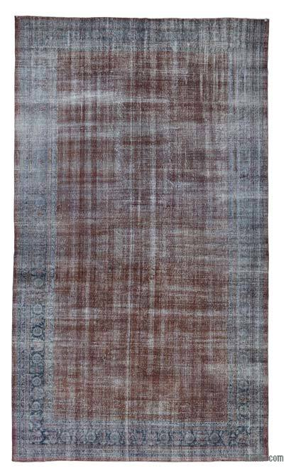 "Grey Over-dyed Vintage Hand-knotted Oriental Rug - 11' 10"" x 19' 11"" (142 in. x 239 in.)"