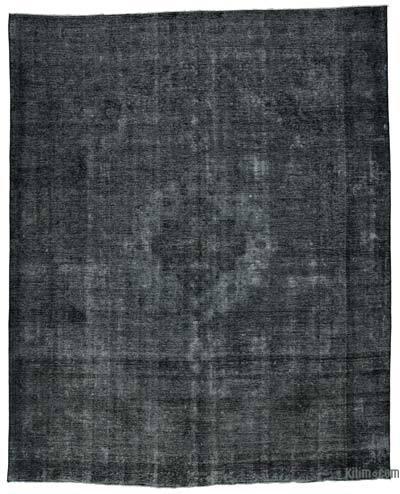 Vintage Boyalı El Dokuma Halı - 290 cm x 356 cm