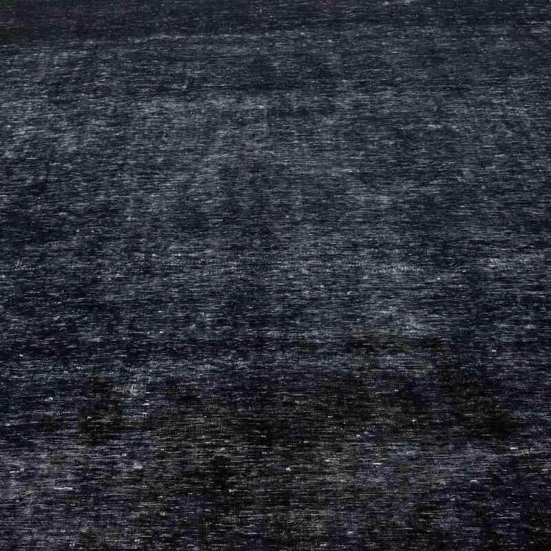 Negro Alfombra Turca Vintage Sobre-teñida  - 290 cm x 410 cm - K0041155