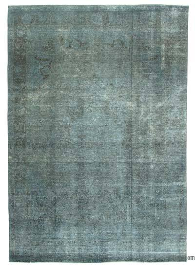 """Grey Overdyed Vintage Hand-knotted Oriental Rug - 6' 7"""" x 9' 6"""" (79 in. x 114 in.)"""