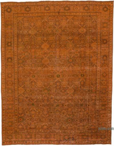 "Over-dyed Vintage Hand-knotted Oriental Rug - 9' 9"" x 12' 8"" (117 in. x 152 in.)"
