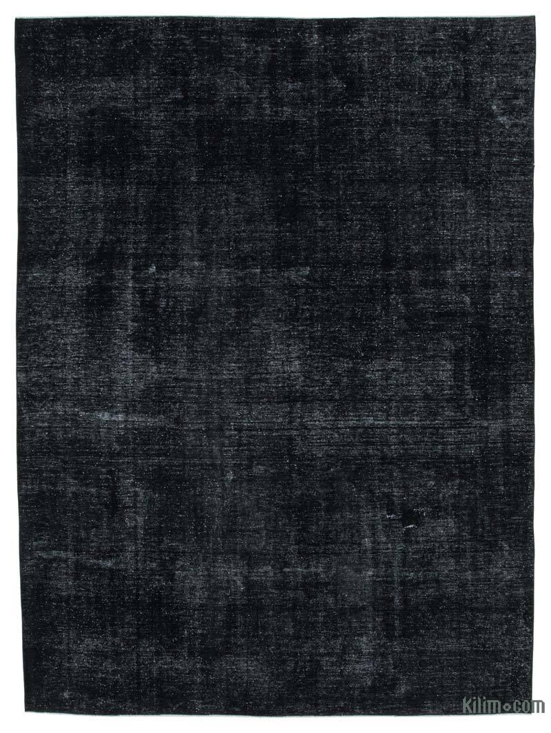 Siyah Boyalı El Dokuma Vintage Halı - 275 cm x 373 cm - K0041164
