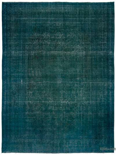 """Over-dyed Vintage Hand-knotted Oriental Rug - 9'4"""" x 12'7"""" (112 in. x 151 in.)"""