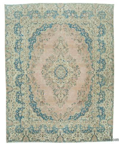"Vintage Hand-knotted Oriental Rug - 8' 8"" x 11' 2"" (104 in. x 134 in.)"