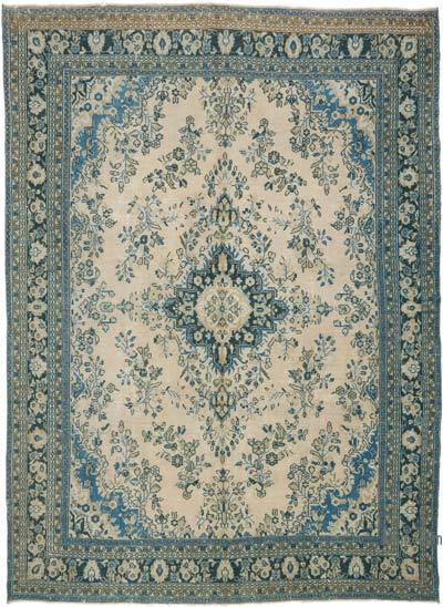 """Vintage Hand-knotted Oriental Rug - 8' 4"""" x 11' 7"""" (100 in. x 139 in.)"""
