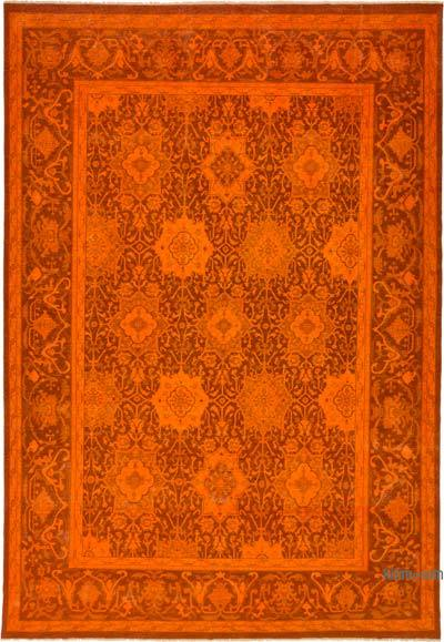 "Over-dyed Vintage Hand-knotted Oriental Rug - 9' 1"" x 13' 3"" (109 in. x 159 in.)"