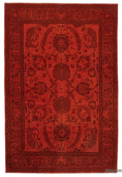 "Over-dyed Vintage Rug - 6' 2"" x 8' 10"" (74 in. x 106 in.)"