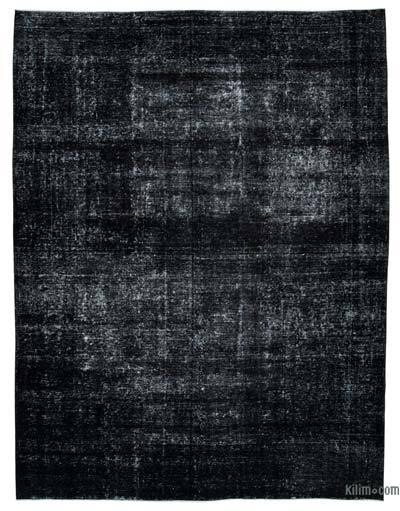 "Black Over-dyed Vintage Hand-knotted Oriental Rug - 9' 9"" x 12' 9"" (117 in. x 153 in.)"