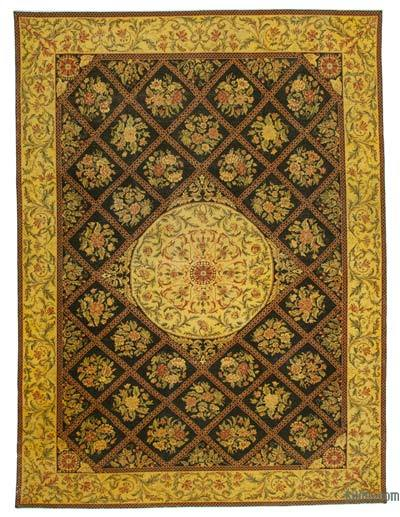 "Over-dyed Vintage Hand-knotted Oriental Rug - 9' 7"" x 13' 3"" (115 in. x 159 in.)"