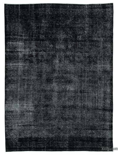 Black Overdyed Vintage Hand-Knotted Oriental Rug - 8'  x 11'  (96 in. x 132 in.)