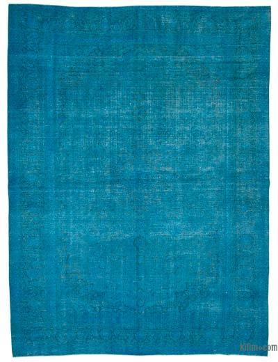 Vintage Boyalı El Dokuma Halı - 306 cm x 403 cm