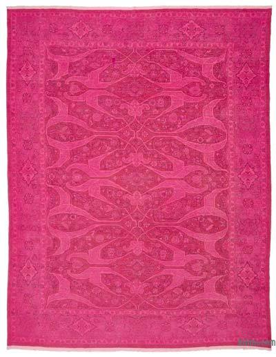"Over-dyed Vintage Hand-knotted Oriental Rug - 8'10"" x 11'3"" (106 in. x 135 in.)"