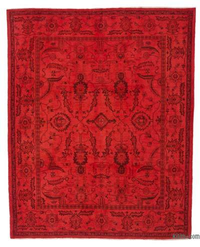 "Overdyed Vintage Hand-knotted Oriental Rug - 7'10"" x 9'11"" (94 in. x 119 in.)"