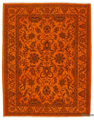 "Overdyed Vintage Hand-knotted Oriental Rug - 7' 7"" x 9' 10"" (91 in. x 118 in.)"