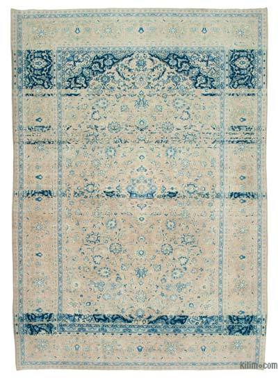 "Over-dyed Vintage Hand-knotted Oriental Rug - 8'10"" x 12'8"" (106 in. x 152 in.)"