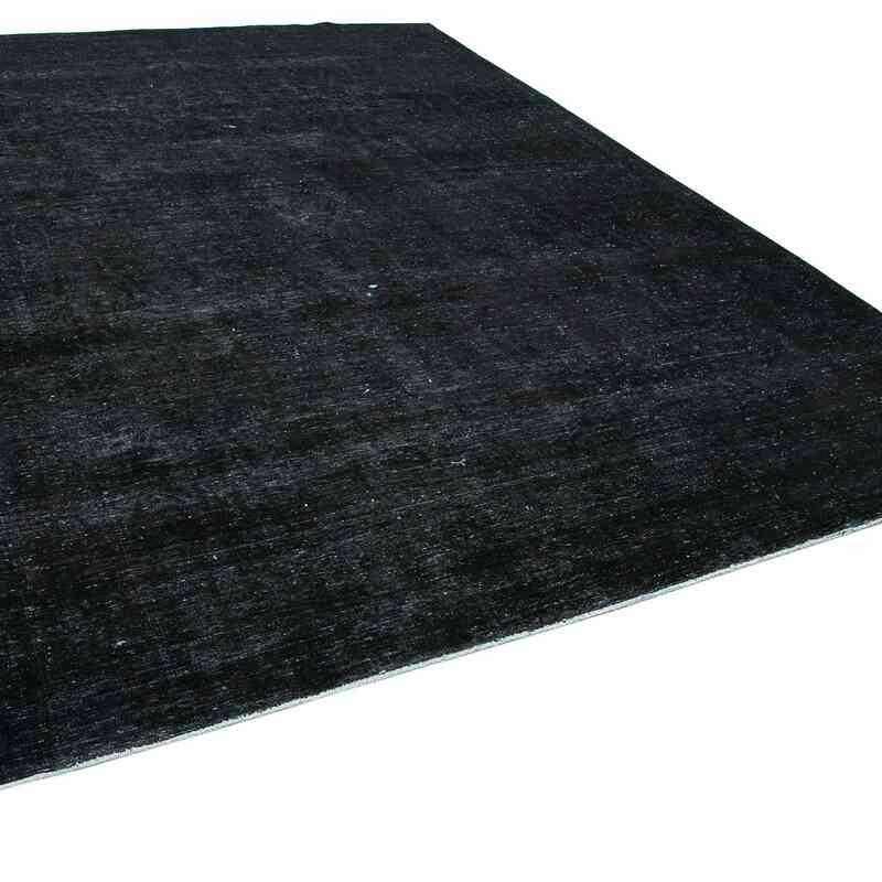 Siyah Boyalı El Dokuma Vintage Halı - 288 cm x 396 cm - K0041245