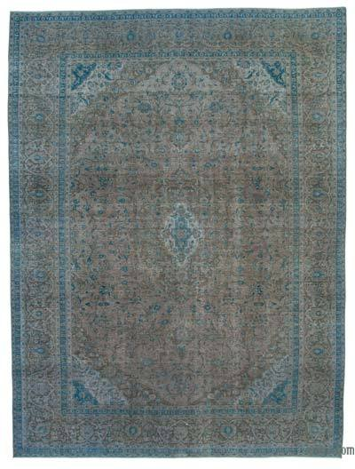 "Over-dyed Vintage Hand-knotted Oriental Rug - 9' 8"" x 12' 10"" (116 in. x 154 in.)"